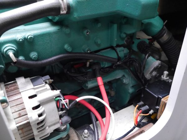 Volvo Penta D2-40 engine with MDI black box relocated off the engine