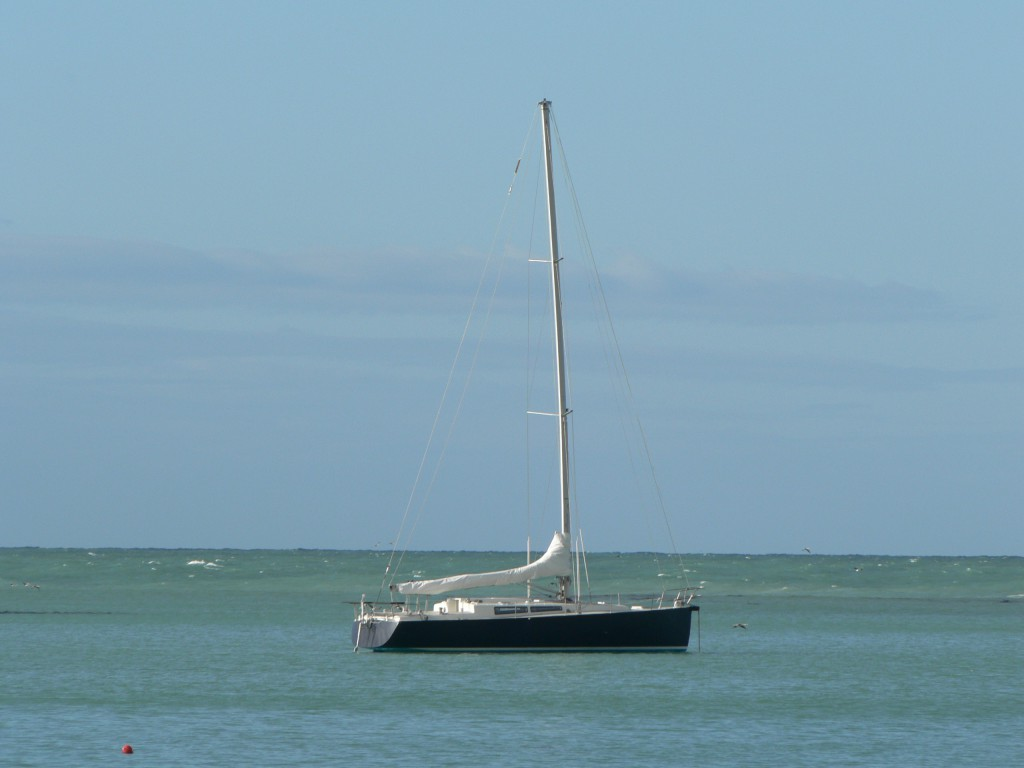 Anchored inside Oamaru Harbour