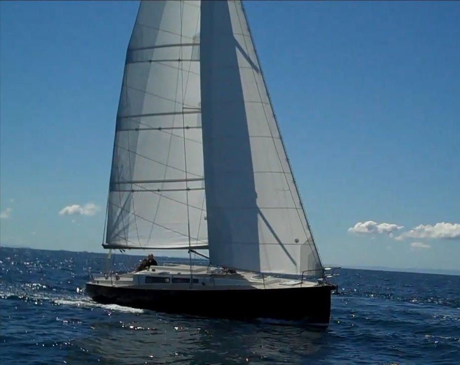 The sloop Nordkyn under sail