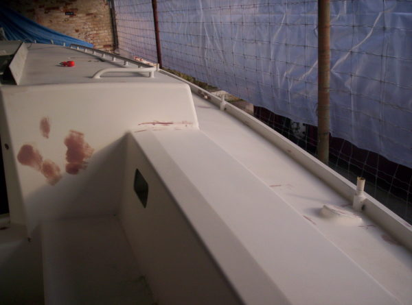 Nordkyn Shell Finishing 15 - Faired cockpit, starboard view