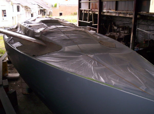 Nordkyn Shell Finishing 53 - Covered deck from fwd quarter